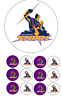 NRL Melbourne Storm Edible Image cake topper 15cm 12 cupcake toppers 3.5cm #20