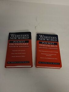 Webster's New World Pocket Thesaurus & Dictionary Printed 2000 EUC