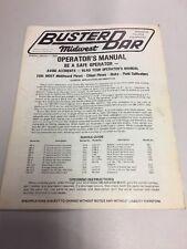 Midwest Buster Bar Operators Manual