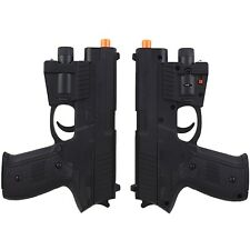 2 x P226 SPRING AIRSOFT HAND GUN PISTOL LED LIGHT LASER SIGHT AIR w/ 6mm BB BBs