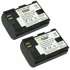 Wasabi Power Canon LP-E6, LP-E6N Replacement Battery(2-Pack)