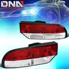 FOR 1989-1993 NISSAN 240SX FASTBACK PAIR TAIL LIGHT BRAKE/REVERSE LAMP RED/CLEAR