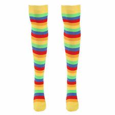 Women Girl Rainbow Strips Socks Knee Thigh High Stockings/Arm Warmer Gloves Gift