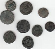 Lot de 9 Monnaies en bronze petit Follis  Empire Romain