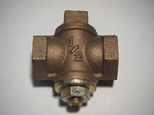 1/2 inch Brass Gas Cock-Shut-Off Valve-Natural or Propane Gas NEW