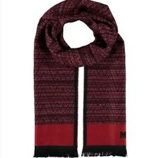 MISSONI Men's Tonal Double Face Zig-Zag Red Scarf