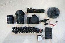 Cannon EOS Rebel SL2 Videography/Vlogging Bundle,  Lenses (Sigma, Cannon), Mic