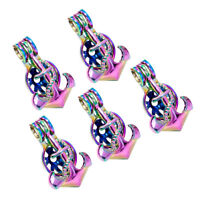 5X Rainbow Color 3D Anchor Pearl Cage Locket Pendant Essential Oil Diffuser Gift