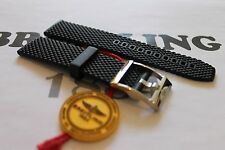 100% Genuine New Breitling Black Ocean Classic Rubber Tang Buckle Strap 22-20mm