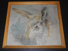 Bildnis eines Hasen. Undeutlich signiert.