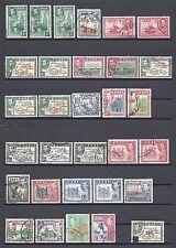 Fiji 1938 SG 249/66B & 9 EXTRA i valori utilizzati GATTO £ 170+