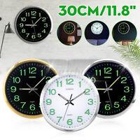 30cm Quarz Wanduhr Modern Wanduhr Fest Nachtlicht Uhr Designuhr leuchtend CN