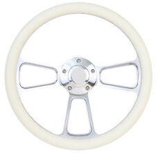 Volkswagen VW 1960-73 Billet & Cream Steering Wheel Beetle Karmann w/ Boss Kit