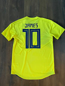 Match Worn Player Issue Colombia James Jersey Shirt Maglia Camiseta M Medium