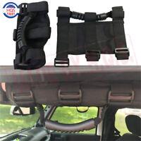 Pair Roll Bar Grab Handle Handles For Jeep Wrangler CJ YJ TJ JK Sports Sahara