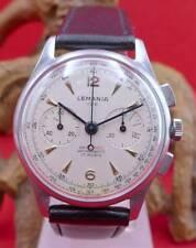 Original Lemania 105 Antichoc Herren Chronograph in Edelstahl Nr. 156