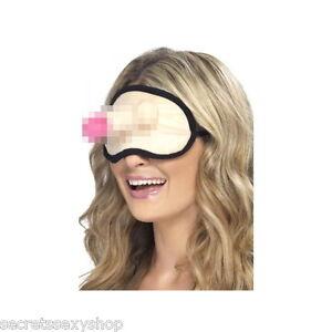 mascherina occhi divertente gadget per scherzi e addio al nubilato con pene