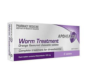 =>PRICE SMASH APOHEALTH De worm Tablets (= Ver-mox or Combantrin1 ) 6 tablets