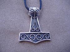 sterling silver mjolinr asatru thors hammer