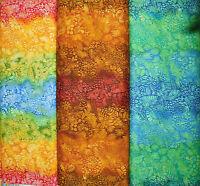 Patchworkstoff (€20/m²) 0,3m Batik Urwald Blätter Muster 1,1m breit
