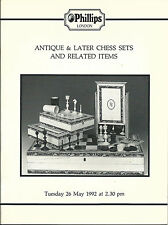 PHILLIPS Antique Later Chess Sets Related Items Auction Catalog 1992