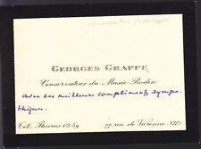 CARTE AUTOGRAPHE SIGNEE DE GEORGES GRAPPE (CONSERVATEUR)