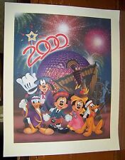 """Disney Celebrate The Future Hand In Hand 2000 Don """"Ducky"""" Williams Lithograph"""