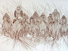 Guillaume Azoulay Preakness Hand Signed 1983 horse race Art Etching Submit Offer