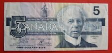1986 $5 Bank of Canada Crow-Bouey ENX Replacement - 11.95 VF+