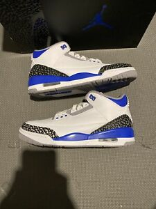 Nike Air Jordan 3 Retro Racer Blue Men's Size 7.5 Hand Ready To Ship CT8532-145