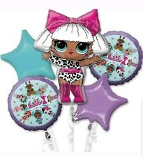 LOL SURPRISE! Doll Foil Balloon Bouquet 5 PC~Anagram~Birthday Party Supplies~New