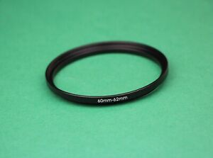 60mm-62mm Stepping Step Up Male-Female Lens Filter Ring Adapter 60mm-62mm