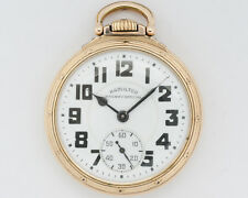 1947 Hamilton 16s 21j Adj. 992B Pocket Watch w/ 10k Gold Filled Hamilton Case!