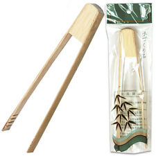 """Bamboo Wooden 7""""L Mini Serving Tong Kitchen Ice Food Party Catering Buffet Tool"""