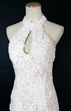 New Jovani 90157 Authentic Ivory Beaded Floral Wedding Bridal Pageant Gown 12