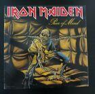 """Vintage IRON MAIDEN  """"PROMO"""" PIECE OF MIND vinyl record LP 1983 INSERT ST 12274"""