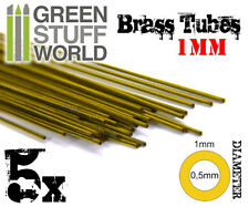 5x Brass Tubes 1mm - Pinning Sculpting Model Making Miniatures Warhammer bases