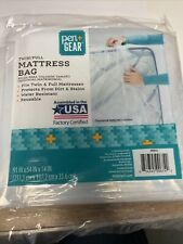 Pen + Gear Twin/Full Mattress Bag Protective Water Resistant Reusable Cover -New