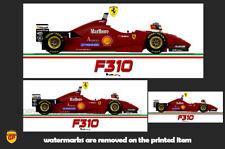 More details for ferrari f310 michael schumacher f1 car sticker - scuderia gp