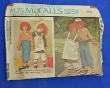 VINTAGE MCCALLS RAGGEDY ANN ANDY COSTUME PATTERN 5254 SIZE 32-34 FREE SHIPPING
