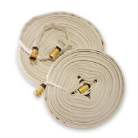WHITE 3/4 In. Forestry Hose Brass Garden Hose Coupling (Choice of 75' & 100')