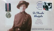 2017 Women in War Military Medal Prestige Cover Dr Phoebe Chapple Limited 52/120