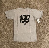DC Shoes Mens Graphic T-Shirt Small Gray Black Travis Pastrana 199 Spell Out NWT