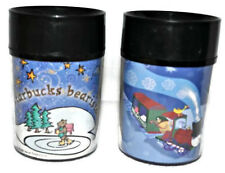 Set of 2 STARBUCKS Christmas Kids Travel Tumblers 8oz Thermo-Serve Coffee Mug