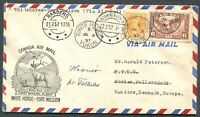 "CANADA ""MUFTI"" FOREIGN DESTINATION AIR MAIL COVER TO RANDERS, DENMARK"