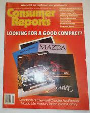 Consumer Reports Magazine Mazda Camry Cavalier January 1984 021315R