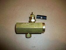 "Detrol Fluids F20B Pneu-Trol Air Flow Control Valve 1/4"" Brass Body   NEW"