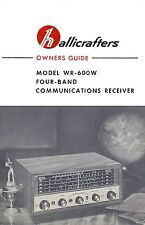 Hallicrafters Wr-600W Wr600W Communications Receiver Manual