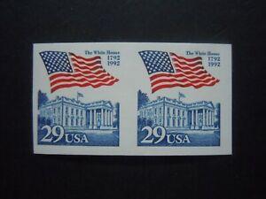 #2609a Flag over White House  EFO Imperforated Coil Pair MNH OG VF