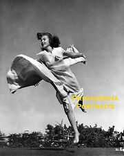 IDA LUPINO 8X10 Lab Photo B&W 1930s AMAZING JUMPING MOTION PORTRAIT Beautiful